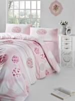 Постельное белье 2-спальное (евро) Altinbasak Creaforce бязь Belin розовый (с наволочками 50x70)