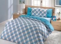 Постельное белье 2-спальное (евро) Altinbasak Creaforce бязь Energy голубой (с наволочками 50x70)