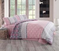 Постельное белье 2-спальное (евро) Altinbasak Creaforce бязь Santana розовый (с наволочками 50x70)