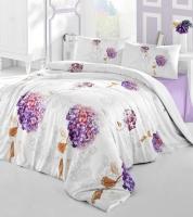 Постельное белье 2-спальное (евро) Altinbasak Creaforce бязь Hidra фиолетовый (с наволочками 50x70)