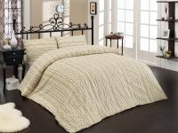 Постельное белье 2-спальное (евро) Altinbasak Creaforce бязь Tweed кремовый (с наволочками 50x70)