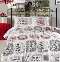 Постельное белье 2-спальное (евро) Altinbasak Creaforce бязь Farfalla красный (с наволочками 50x70)