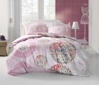 Постельное белье 2-спальное (евро) Altinbasak Creaforce бязь Izem розовый (с наволочками 50x70)