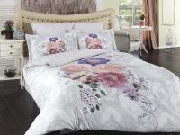 Постельное белье 1,5-спальное Karna Delux сатин Lavin