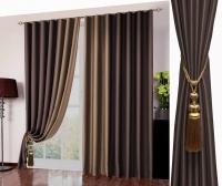 Готовые шторы Реалтекс модель № 026 темный шоколад