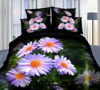 Постельное белье семейное (дуэт) Cleo 3D сатин 4/1017-3D (с наволочками 50х70)