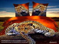 Постельное белье 1,5-спальное Cleo 3D сатин 15/1029-3D (с наволочками 50х70)