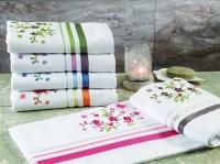 Махровое полотенце TAC 50х90 с вышивкой Legrand зеленый