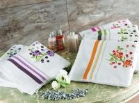 Махровое полотенце TAC 50х90 с вышивкой Fusion голубой