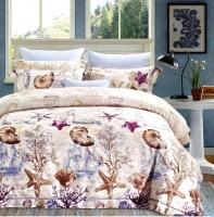 Постельное белье 2-спальное (стандарт) Valtery сатин с вышивкой с отделкой гобеленом 110-85