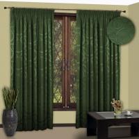Готовые шторы Реалтекс модель № 111 зеленый