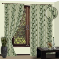 Готовые шторы Реалтекс модель № 112 зеленый