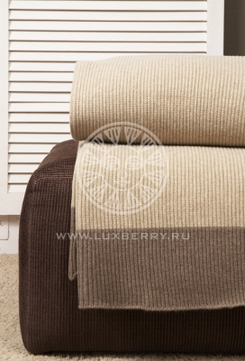 Плед шерстяной Luxberry Imperio 57 beige/brown размер 140x200