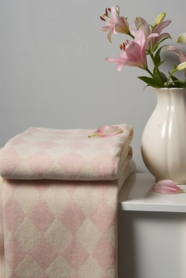 Плед детский Luxberry Imperio 50 pink/ivory размер 100x150