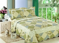 Покрывало Patchwork Silk Place Royalux 230x250 21-1007 зеленый