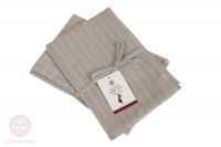 Комплект из 2 полотенец Luxberry Timeless maxi лен натуральный-белый