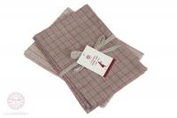 Комплект из 2 полотенец Luxberry Timeless maxi лен натуральный-красный