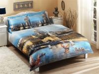 Постельное белье TAC 2-спальное (евро) Satin Delux Nikas Жизнь Санкт-Петербурга, благословенная свыше