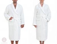 Халат Luxberry Basic белый-натуральный размер XS