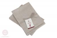 Комплект из 2 полотенец Luxberry Timeless mini лен натуральный-белый