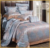 Постельное белье 2-спальное (евро) Karven жаккард с оборкой J-400