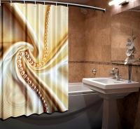 Шторка для ванной Новый стиль Шелк 148x180