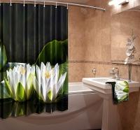 Шторка для ванной Новый стиль Лотос 148x180