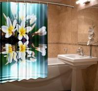 Шторка для ванной Новый стиль Флорес 148x180