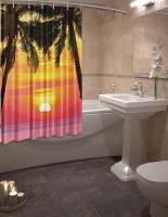 Шторка для ванной Новый стиль Закат 148x180