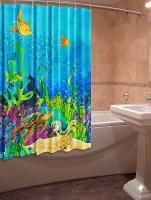 Шторка для ванной Новый стиль Черепаха 148x180