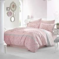 Постельное белье 2-спальное (евро) Altinbasak сатин Alona розовый