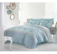 Постельное белье 2-спальное (евро) Altinbasak сатин Alona голубой