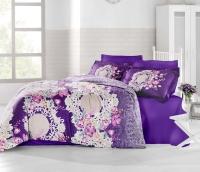 Постельное белье 2-спальное (евро) Altinbasak сатин Elvin фиолетовый