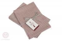 Комплект из 2 полотенец Luxberry Timeless mini лен натуральный-красный
