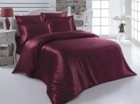 Постельное белье 2-спальное (евро) Karna шелк Arin бордовый