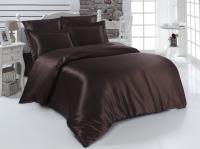 Постельное белье 2-спальное (евро) Karna шелк Arin коричневый