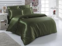 Постельное белье 2-спальное (евро) Karna шелк Arin зеленый