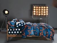 Постельное белье 2-спальное (стандарт) Primavelle мако-сатин дизайн Авиньон с простыней на резинке (с наволочками 70х70)