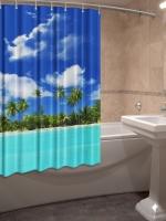 Шторка для ванной Новый стиль Пляж 148x180