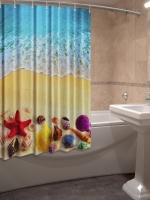 Шторка для ванной Новый стиль Побережье 148x180