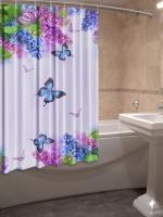 Шторка для ванной Новый стиль Сирень 148x180