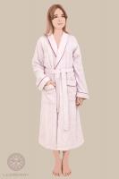 Халат Luxberry Basic розовая пудра-бордовый размер XS