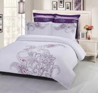 Постельное белье 2-спальное (стандарт) Kingsilk сатин с вышивкой дизайн C-55