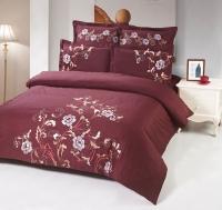 Постельное белье 2-спальное (стандарт) Kingsilk сатин с вышивкой дизайн C-56