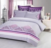 Постельное белье 2-спальное (стандарт) Kingsilk сатин с вышивкой дизайн C-57