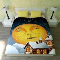 Постельное белье 2-спальное (евро) Newtone сатин Доброй ночи (с наволочками 50x70)