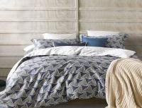 Постельное белье 2-спальное (стандарт) Primavelle мако-сатин дизайн Фави с простыней на резинке (с наволочками 70х70)