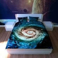 Постельное белье 2-спальное (евро) Newtone бязь Галактика (4 наволочки)