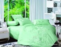 Постельное белье 2-спальное (стандарт) Kingsilk люкс-cатин с кружевом LS 009M