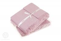 Полотенце Luxberry Macaroni вафельное 50x70 розовый